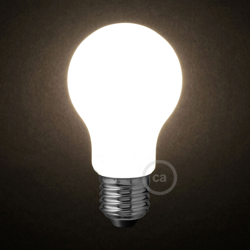 Led Milky White Light Bulb Drop A60 6w E27 Dimmable 2700k