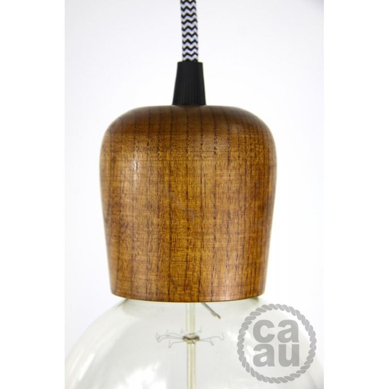 Medium Wood Pemdamt with B/W Zig Zag