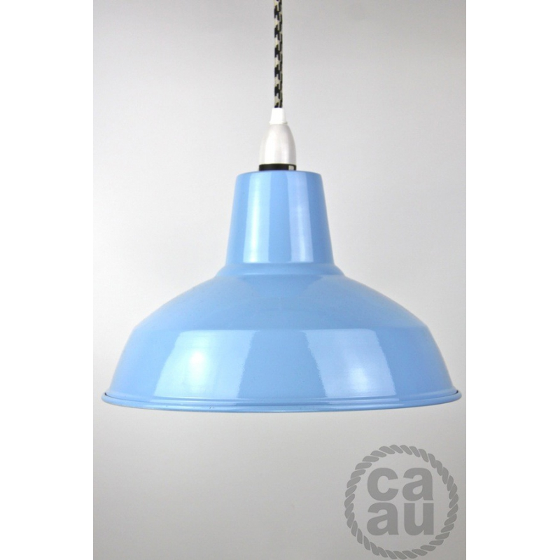 Metal Shade Pendant Blue