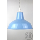 Metal Shade Pendant Blue with B/W Houndstooth