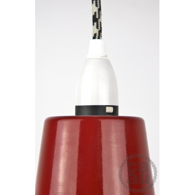 Metal Shade Pendant Red
