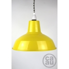 Metal Shade Pendant Yellow with B/W Houndstooth