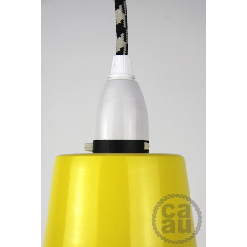Metal Shade Pendant Yellow
