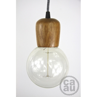 Wooden Lampholder Light