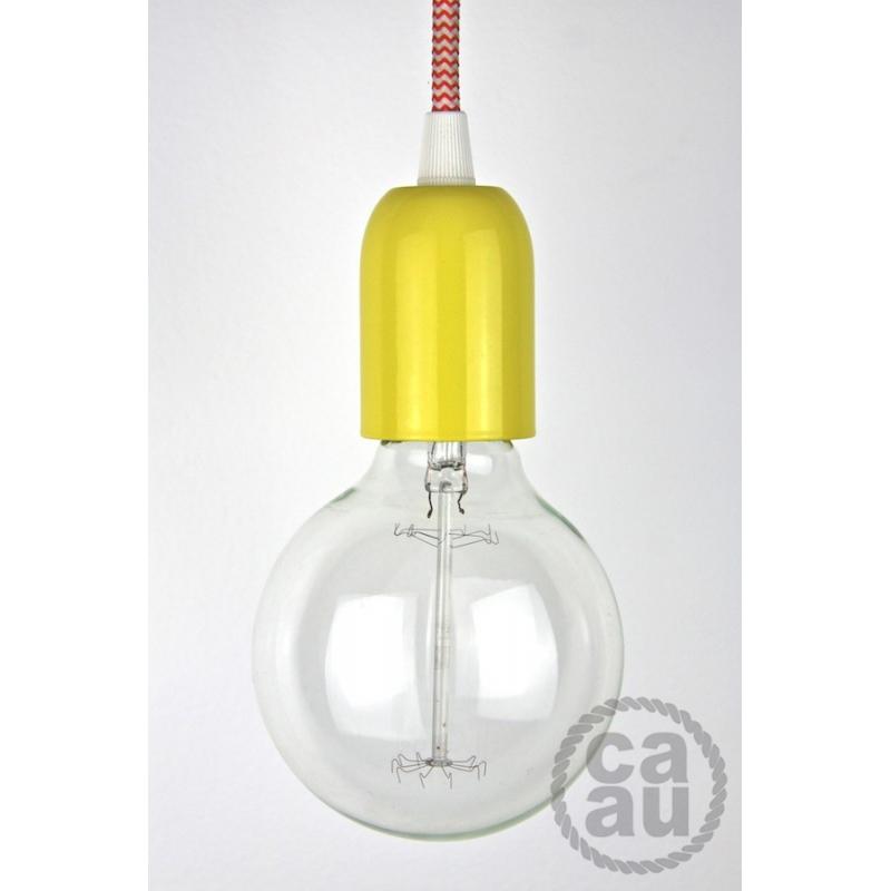 Pendant: Yellow with Orange Zig Zag Cord