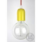 Pendant: Yellow with Orange Zig Zag Cable