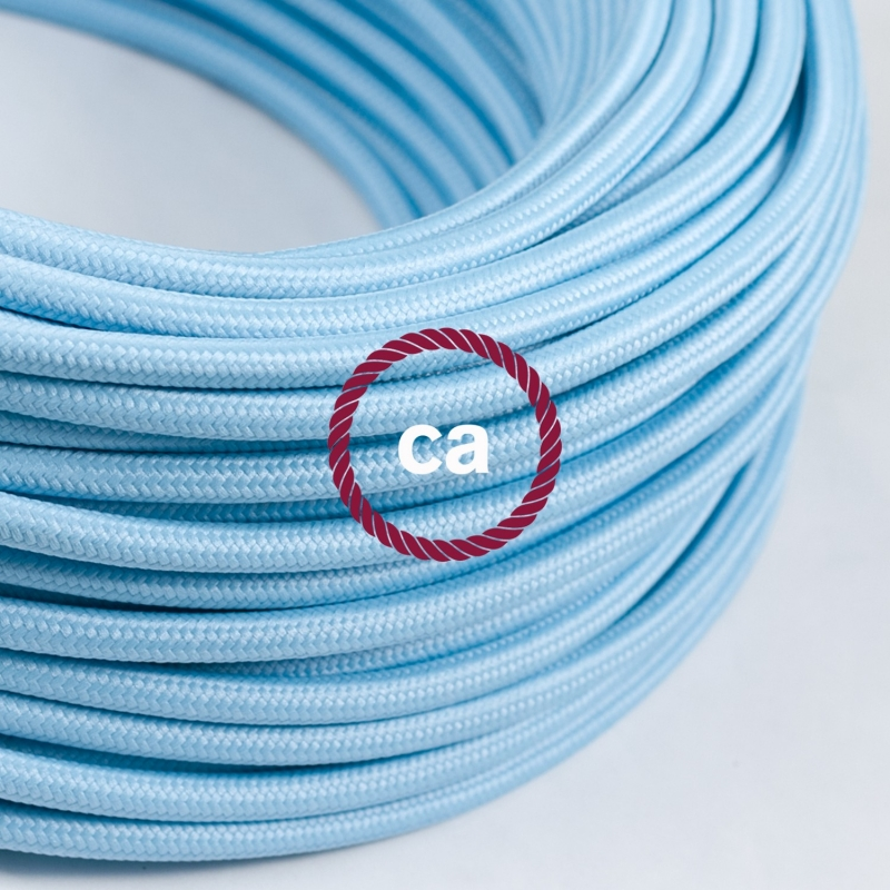 Round Electric Cable Covered By Rayon Solid Color Fabric