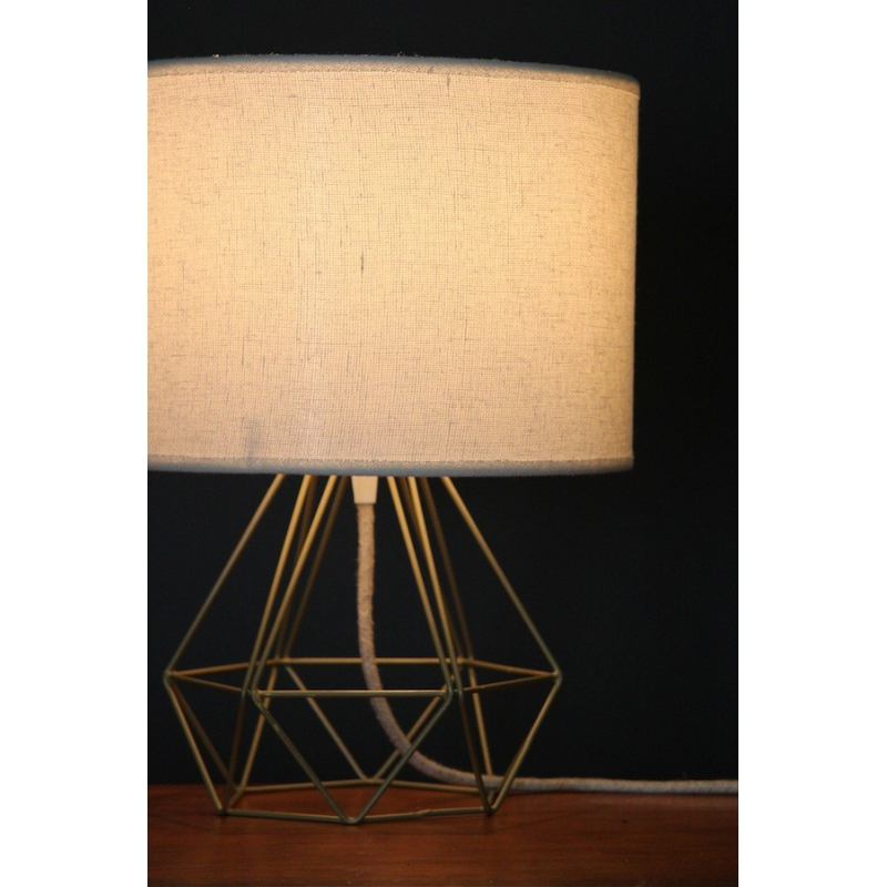 Empirical Style Table Light Gold Linen
