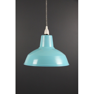 Metal Shade Pendant Vibrant Blue