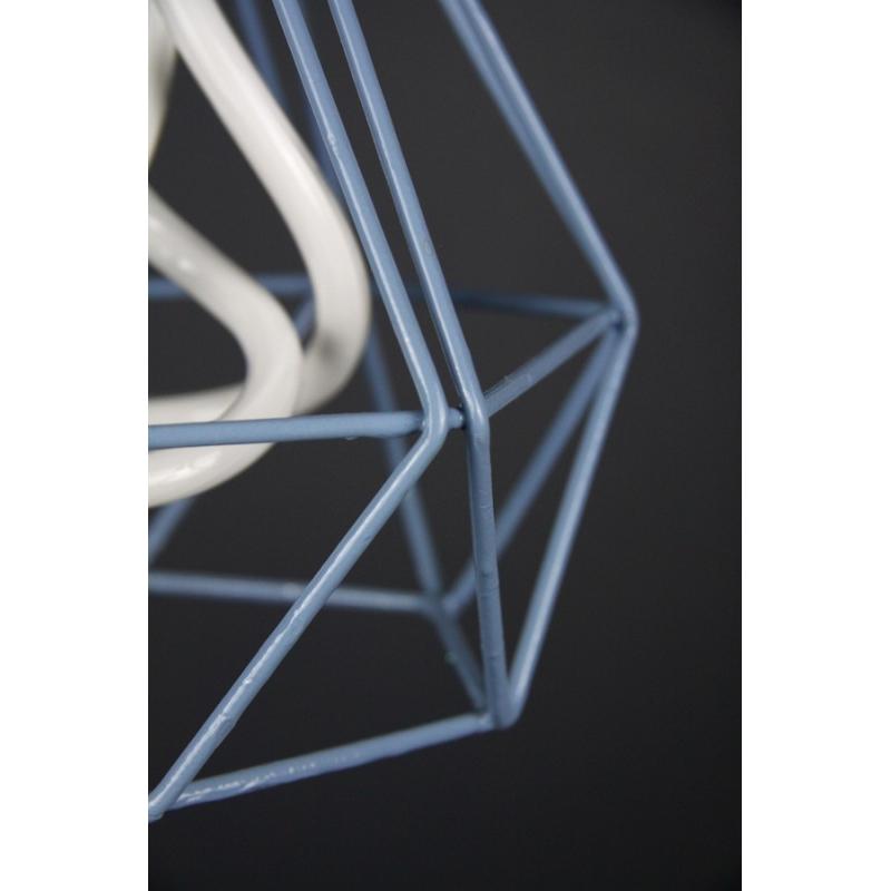 Diamond Cage Pendant Blue