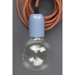 Pendant: Blue with vintage red cord