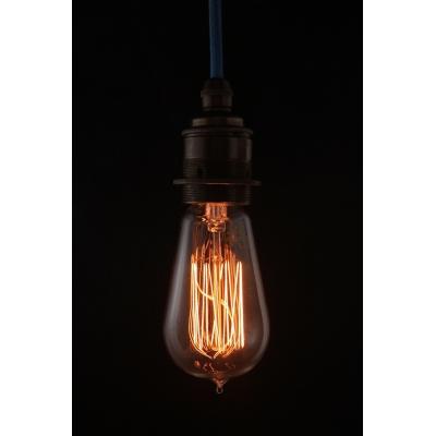 Edison Lightbulb Teardrop Short golden light