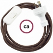 Wiring Brown Rayon textile cable RM13 - 1.80 mt