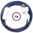 Wiring Dark Blue Rayon textile cable RM20 - 1.80 mt
