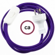 Wiring Violet Rayon textile cable RM14 - 1.80 mt