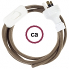 Wiring Brown Cotton textile cable RC13 - 1.80 mt