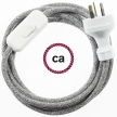 Wiring Grey Natural Linen textile cable RN02 - 1.80 mt