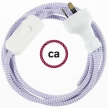 Wiring ZigZag Lilac textile cable RZ07 - 1.80 mt