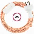 Wiring ZigZag Orange textile cable RZ15 - 1.80 mt