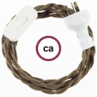 Wiring Brown Cotton textile cable TC13 - 1.80 mt