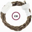 Wiring Brown Cotton textile cable TC13 - 1.80 mt