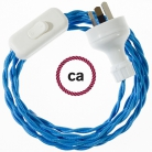 Wiring Turquoise Rayon textile cable TM11 - 1.80 mt