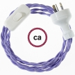 Wiring Lilac Rayon textile cable TM07 - 1.80 mt
