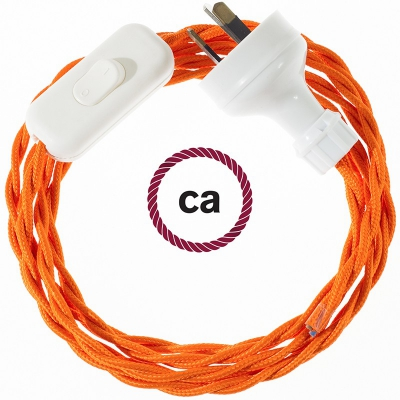 Wiring Orange Rayon textile cable TM15 - 1.80 mt