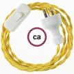 Wiring Yellow Rayon textile cable TM10 - 1.80 mt