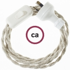 Wiring Neutral Natural Linen textile cable TN01 - 1.80 mt