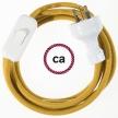 Wiring Golden Honey Cotton textile cable RC31 - 1.80 mt