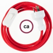 Wiring Fire Red Cotton textile cable RC35 - 1.80 mt