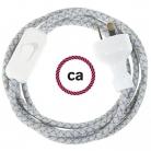 Wiring Lozenge Steward Blue textile cable RD65 - 1.80 mt