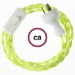 Wiring Yellow Fluo Rayon textile cable TF10 - 1.80 mt