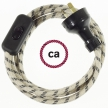 Wiring Stripes Anthracite textile cable RD54 - 1.80 mt