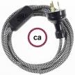 Wiring ZigZag Black textile cable RZ04 - 1.80 mt