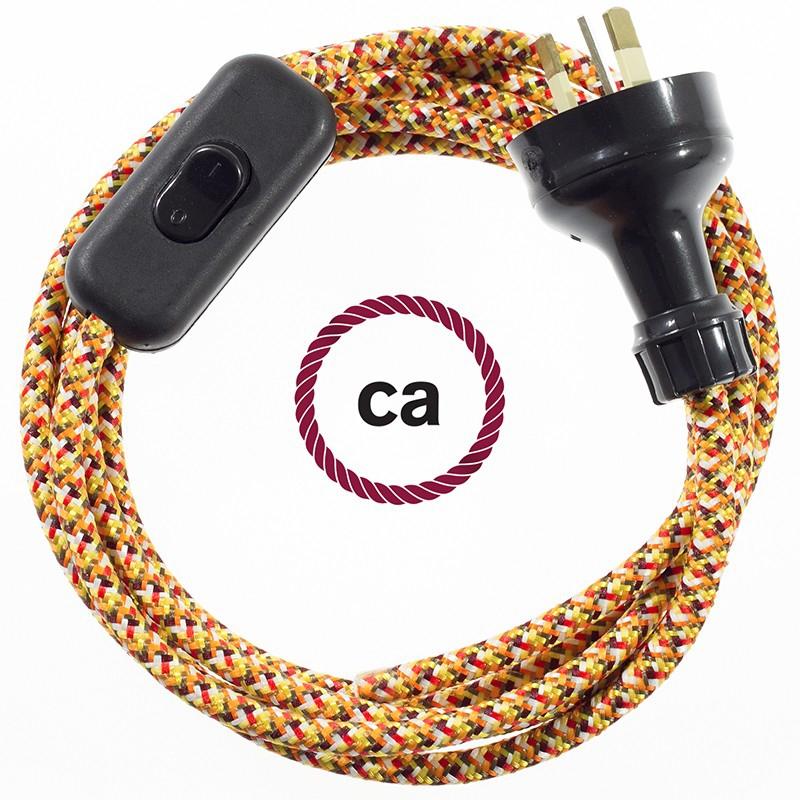 Wiring Pixel Orange textile cable RX01 - 1.80 mt