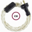 Wiring Ivory Rayon textile cable TM00 - 1.80 mt