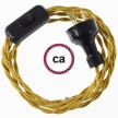 Wiring Gold Rayon textile cable TM05 - 1.80 mt