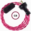 Wiring Fuchsia Rayon textile cable TM08 - 1.80 mt