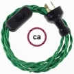 Wiring Green Rayon textile cable TM06 - 1.80 mt