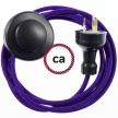 Wiring Pedestal Violet Rayon textile cable RM14 - 3 mt