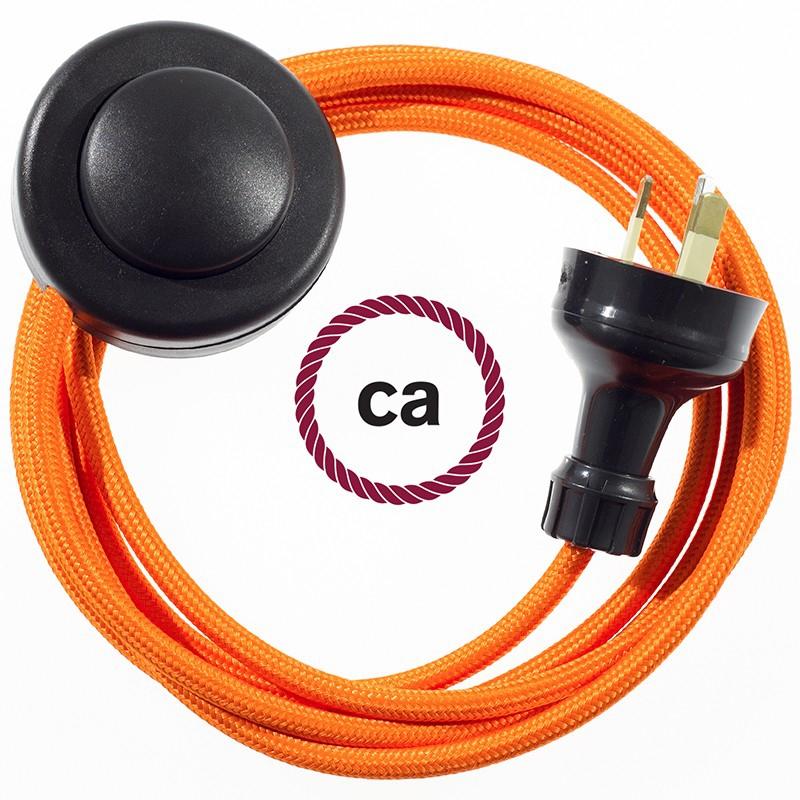 Wiring Pedestal Orange Rayon textile cable RM15 - 3 mt