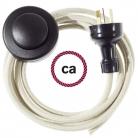 Wiring Pedestal Dove Cotton textile cable RC43 - 3 mt