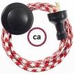 Wiring Pedestal Bicolored Black textile cable RP09 - 3 mt