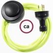 Wiring Pedestal Orange Fluo textile cable RF10 - 3 mt