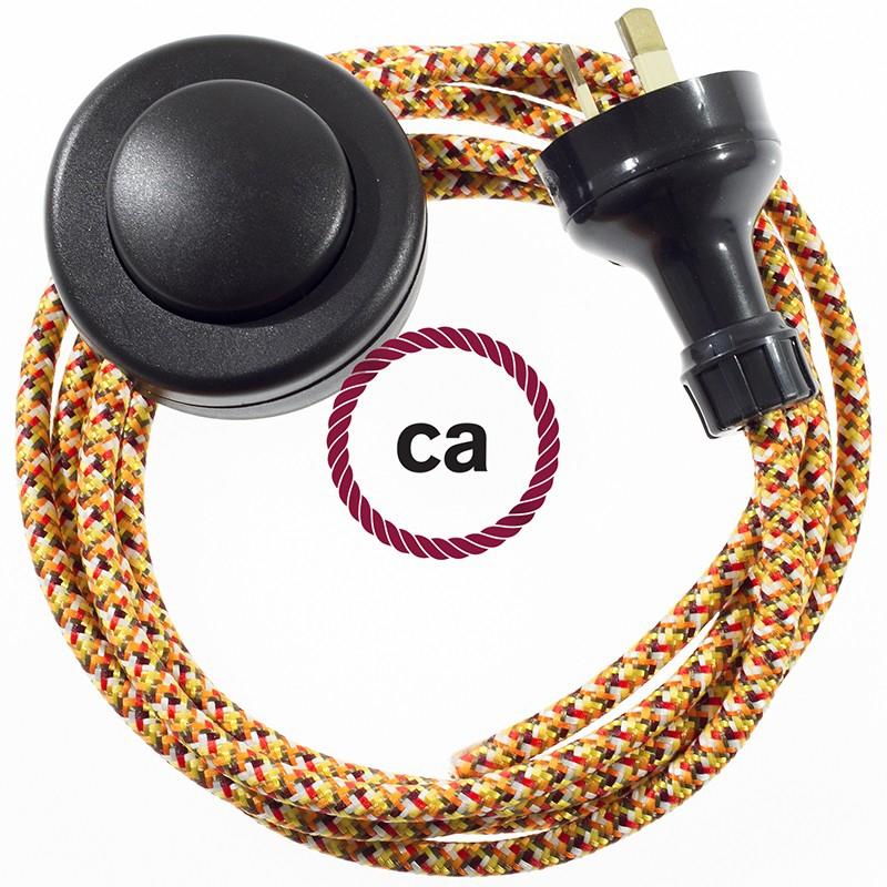 Wiring Pedestal Pixel Orange textile cable RX01 - 3 mt