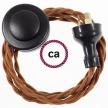 Wiring Pedestal Deer Cotton textile cable TC23 - 3 mt