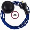 Wiring Pedestal Blue Rayon textile cable TM12 - 3 mt