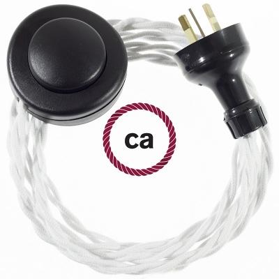 Wiring Pedestal White Cotton textile cable TC01 - 3 mt